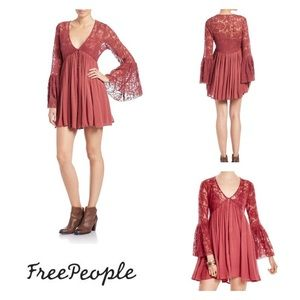 Free People From India With Love lace minidress XS